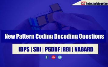 New Pattern Coding Decoding Questions for SBI PO/Clerk 2018