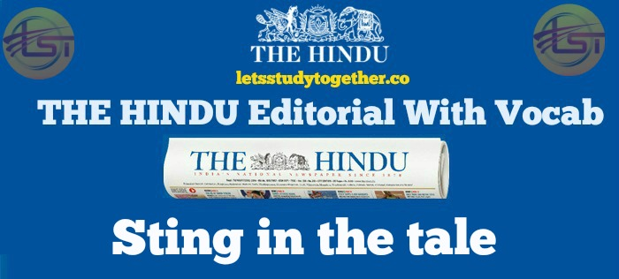 THE HINDU Editorial With Vocab
