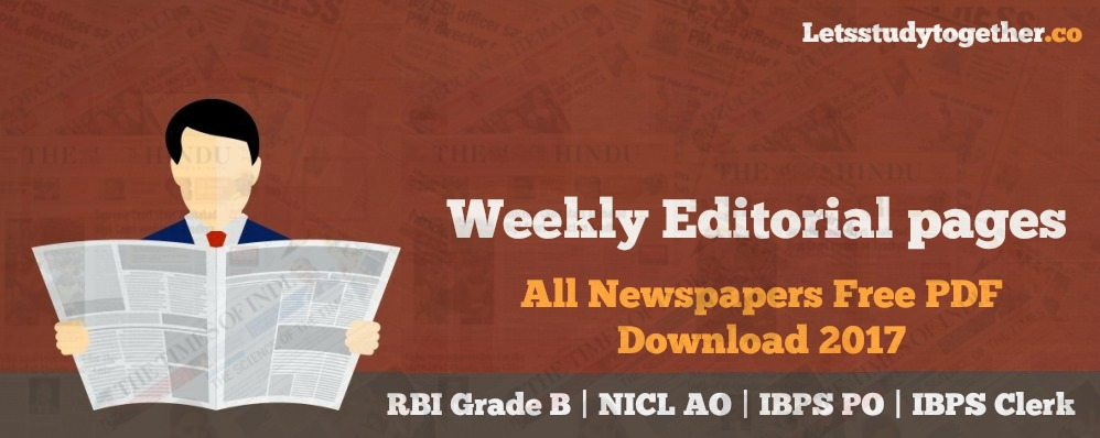 Weekly Editorial pages from All Newspapers Free PDF Download 2017