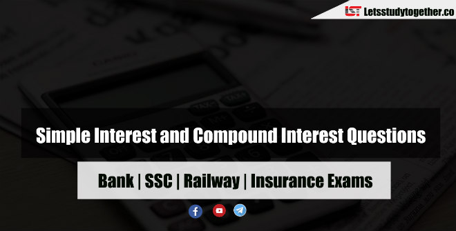SI & CI Questions Answers MCQ For Bank & SSC Exam 2018