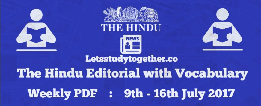 Weekly Editorial with Vocabulary PDF