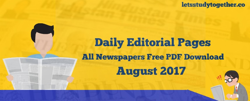 Daily Editorial pages