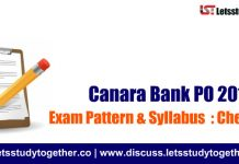 Canara Bank PO Exam Pattern & Syllabus 2018 : Check Here