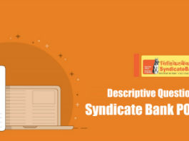 Descriptive Questions Asked In Syndicate Bank PO