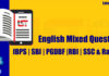 English Mixed Questions