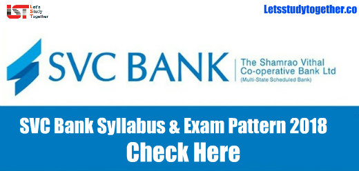 SVC Bank Syllabus & Exam Pattern