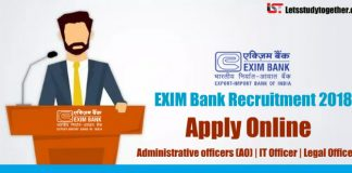EXIM Bank Recruitment 2018 : Apply Online