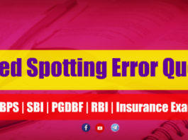 Expected Spotting Error Questions