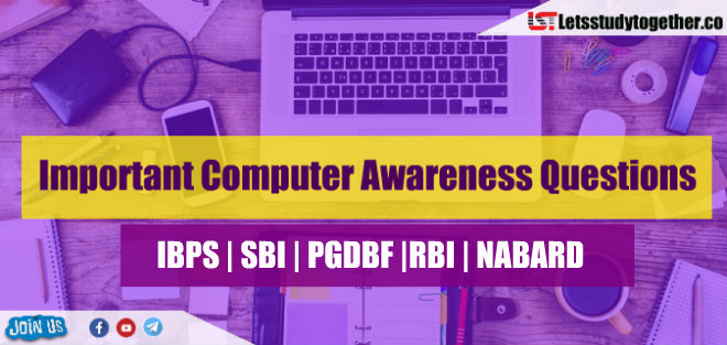 Computer Awareness Questions for RRB PO & Clerk