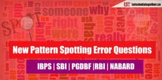 New Pattern Spotting Error Questions for SBI Clerk & NABARD Grade A
