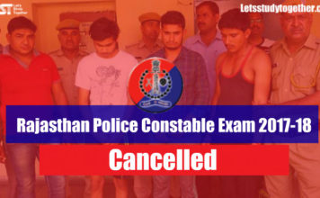 Rajasthan Police Constable Exam 2017-18 Cancelled