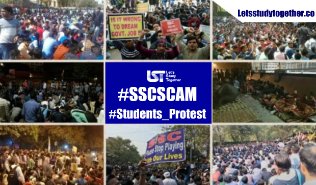 #SSCSCAM _ SSC Scam & Protests – Students Protest, Sleep On Roads To Demand