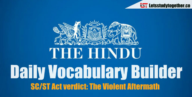 Daily Vocabulary Builder PDF - 9th April 2018