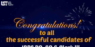 Congratulations to all for IBPS Result 2017-18 : IBPS PO, SO & Clerk Result !!!!