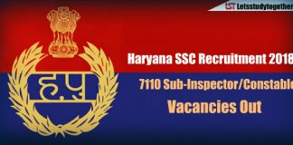 Haryana SSC Recruitment – 7110 Sub-Inspector/Constable Vacancies Out
