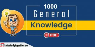 1000+ Important General Knowledge (GK) One Liner Questions PDF