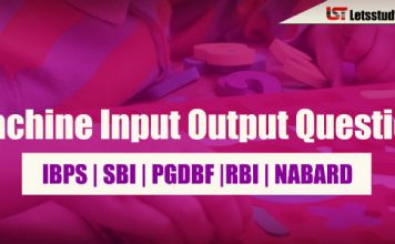 Reasoning Machine Input Output Question For Bank PO