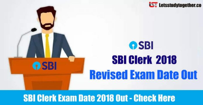 SBI Clerk Exam Date 2018