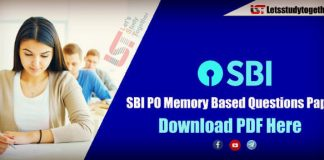 SBI PO Memory Based Questions Paper PDF – Download Here
