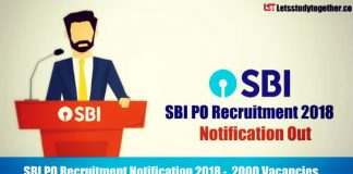 SBI PO Recruitment Notification 2018 - Exam Dates, Notification, Vacancies Details
