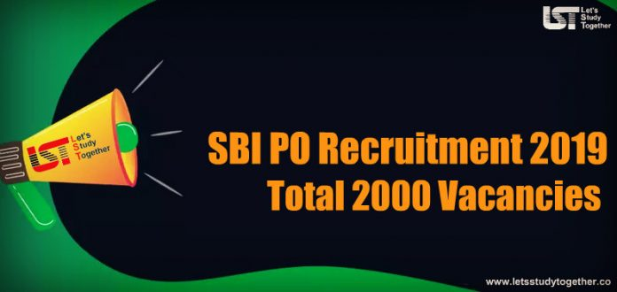 SBI PO Recruitment Notification 2019 - Apply Online