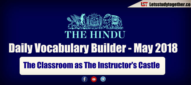 Daily Vocabulary Builder PDF BY LST - 25th May 2018