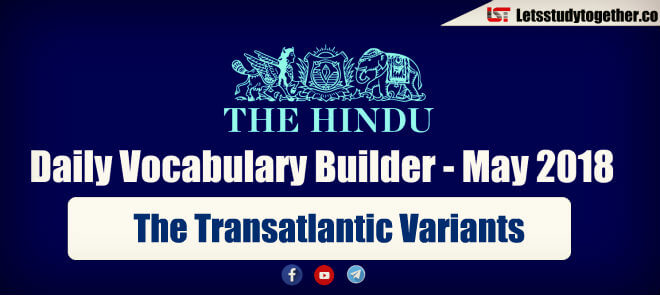 Daily Vocabulary Builder PDF BY LST - 29th May 2018