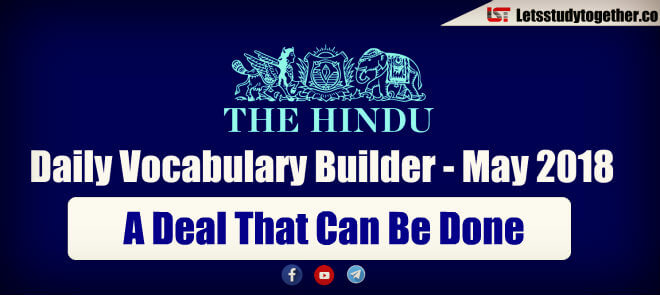 Daily Vocabulary Builder PDF BY LST - 30th May 2018