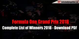 Complete List of Formula One Grand Prix winners 2018
