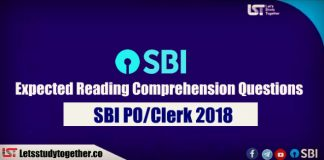 Expected Reading Comprehension Questions for SBI PO/ Clerk 2018