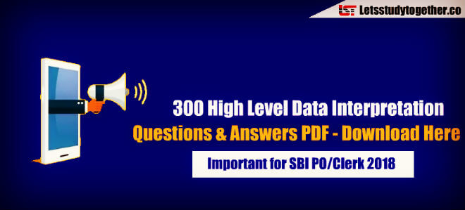 300 High Level Data Interpretation Questions & Answers PDF - Download Here