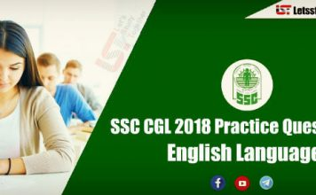 Important English Questions For SSC CGL and RRB Exam 2018 | Set -1