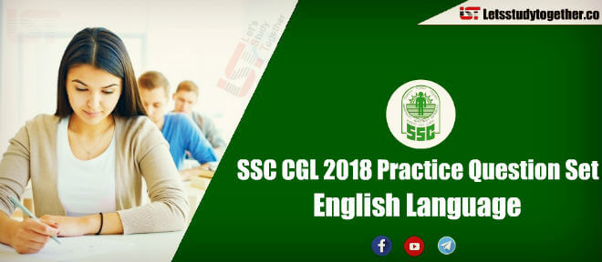 Important English Questions For SSC CGL Prelims 2018