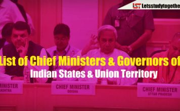 List of Chief Ministers & Governors of Indian States & Union Territory in PDF