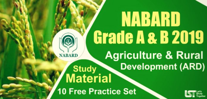 NABARD Agriculture & Rural Development (ARD) Study Material | Quizzes | Books | Paper PDF
