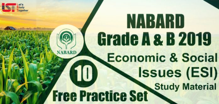 NABARD Economic & Social Issues (ESI) Study Material 2019 | Quizzes | Books | Paper PDF