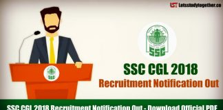 SSC CGL 2018 Recruitment Notification Out, Download Official PDF