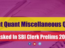 Important Quant Miscellaneous Questions for SBI PO/Clerk