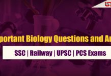 Important Biology Questions and Answer PDF