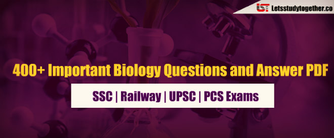 400+ Important Biology Questions and Answer PDF for SSC | Railway