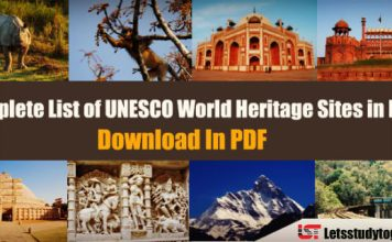Complete List of UNESCO World Heritage Sites in India - Download PDF
