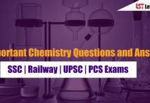 Important Chemistry Questions and Answer PDF for SSC