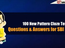 New Pattern Cloze Test Questions & Answers for SBI PO 2018