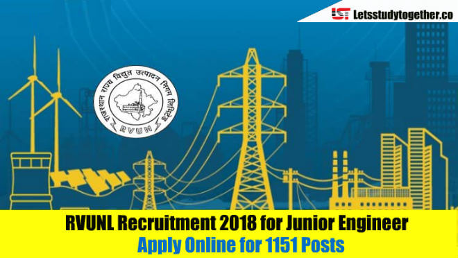 RVUNL Recruitment 2018 - Junior Engineer Vacancies