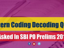 New Pattern Coding Decoding Questions for SBI PO Prelims