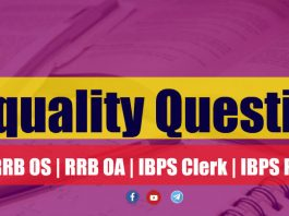 Inequality Questions For RRB OS | RRB OA | IBPS Clerk | IBPS PO