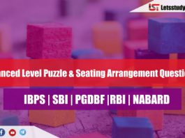 Puzzle and Seating Arrangement for SBI PO Mains