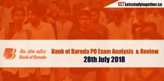 Bank of Baroda PO Exam Analysis & Review – 28th July 2018