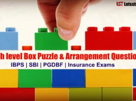 High level Box Puzzle & Arrangement Questions for SBI PO/Clerk Exam