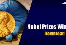 Complete List of Nobel Prizes Winners 2017 – Download PDF